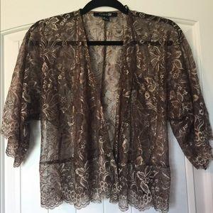 Tops - Metallic Bronze cardigan
